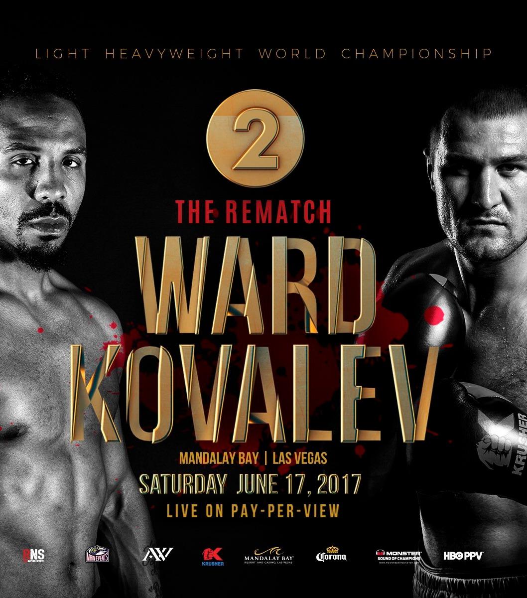 Andre Ward v Sergey Krusher Kovalev 2 June 17 2017