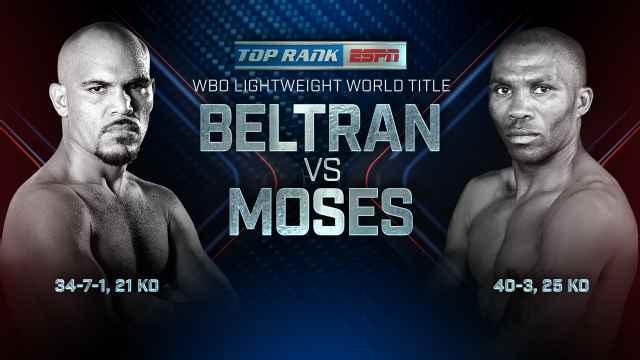 Ray Beltran vs Paulus Moses
